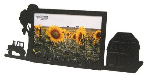 Farm Site Tractor & Barn 4X6 Horizontal Picture - Frame Site