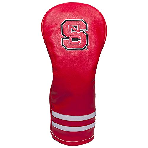 Team Golf NCAA NC State Wolfpack Vintage Fairway Golf Club Headcover, Form Fitting Design, Retro Design & Superb Embroidery