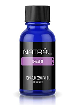 NATRÄL Geranium, 100% Pure and Natural Essential Oil, Large 1 Ounce Bottle