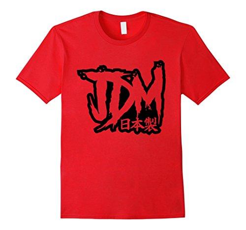 Mens JDM Made in Japan Tshirt, Import Car Racing Drifting XL Red - Import Cars Japan