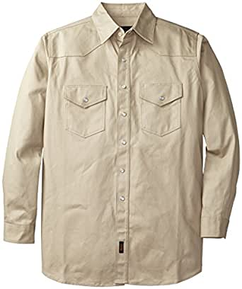 Walls work men 39 s heavy weight welding shirt for Heavy button down shirts