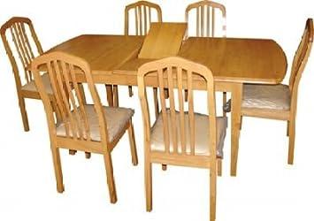 Marvelous Newton Extending Beech Dining Table Set With 4 Dining Chairs Customarchery Wood Chair Design Ideas Customarcherynet
