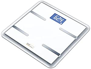 Beurer BG-900 - Báscula de baño diagnóstica, color blanco