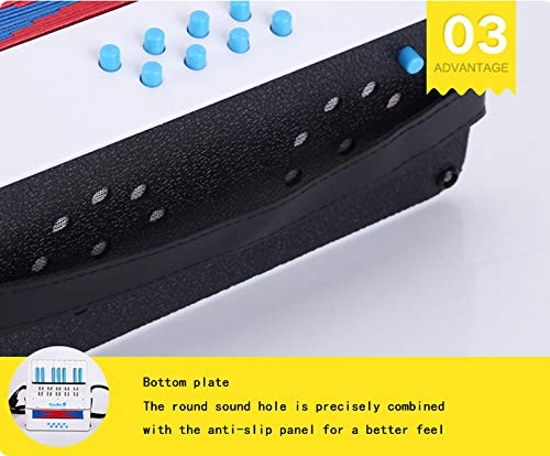 SFQNPA 17 Key 8 Bass Children's Accordion Adult Beginner Educational Toys Early Educational Piano Teaching Instruments Children Toys Children Amateur Beginner by SFQNPA (Image #5)