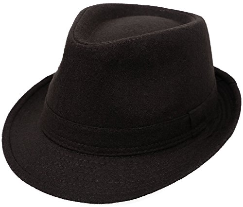 [Adult Sizes Manhattan Fedora Hat for All Occasions] (Fedora Gangster Hat)