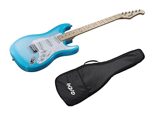 Indio Cali Classic Electric Guitar with Gig Bag-Blue Burst ()