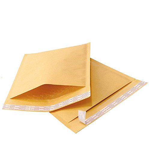 Yens 500 pcs 4x8 #000 Economic Grade Kraft Bubble Padded Envelopes Mailers 500KF#000 (4 Kraft Bubble Mailers)
