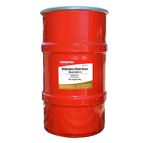 Sinopec Multipurpose Lithium Grease #2, 120 lb, 16 Gallon Keg, Red by Sinopec