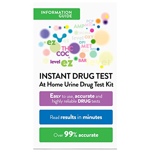Amazon Com Ez Level  Panel Drug Screen Test Kit Dip Card  Tests Health Personal Care