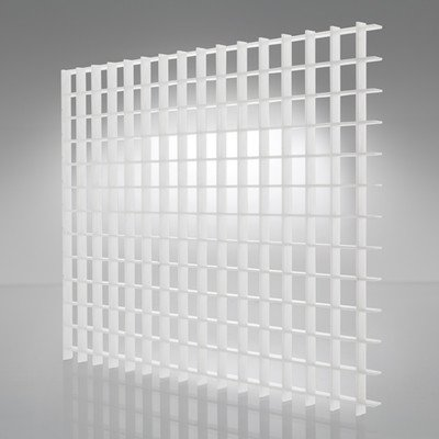 Plaskolite 1199232A Eggcrate Lighting Panel 2'X4' - White