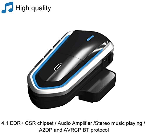 Motorcycle Helmet Bluetooth 4.2 Earphone FM Radio Stereo Headset Low Power Waterproof Motorcycle Communication System with Noise Reduction Function
