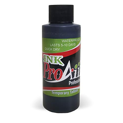 Body Paint - ProAiir Temporary Tattoo Ink - 2.1 oz (60ml) Black