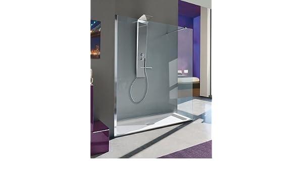 Mampara de ducha a la italiana fijo Open Shot con vidrio transparente Securit 6 mm: Amazon.es: Bricolaje y herramientas