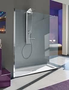 Mampara de ducha a la italiana fijo Open Shot con vidrio ...