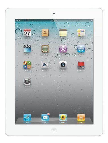 Apple iPad 2 MC979LL/A 2nd Generation Tablet (16GB, Wifi, White) (Renewed)]()