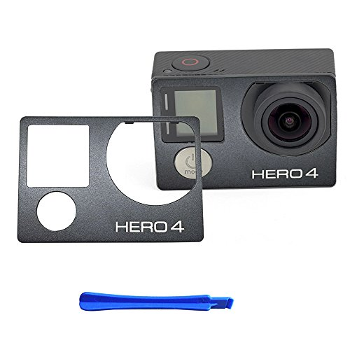 for GoPro Hero 4 Front Cover Frame Shell (Aluminum) Housing Panel Faceplate Replacement Repair Parts - Frame Faceplate Housing