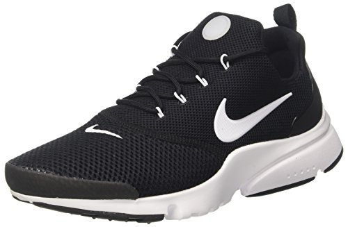Nike Mens Presto Fly Low Top Lace Up Trail Running Shoes, Black/White, Size ()