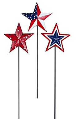 Barn Star Planter Stakes, Set of 3 by Maple Lane CreationsTM