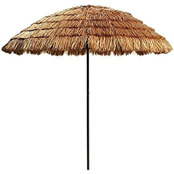 Superbe Le Papillon 8 Foot Tiki Hawaiian Patio Umbrella Thatched Umbrella With  Fiberglass Ribs