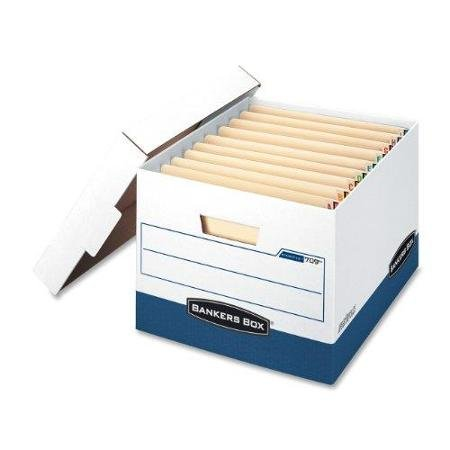 Bankers Box 00709 File Storage Boxes,850 lb,12-3/4''x15-1/2 x10,12/CT,WE/BE by Supernon