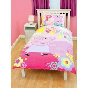 Girls Peppa Pig Duvet Quilt Cover Bedding Set Single Bed