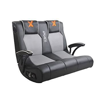 X-Rocker Dual Commander Gaming Chair Black u0026 Grey  sc 1 st  Amazon.com & Amazon.com: X-Rocker Dual Commander Gaming Chair Black u0026 Grey ...
