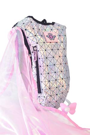 Dan Pak Hydration Pack 2l – Holographic Disco -Perfect for Raves, Festivals, Hiking, Camping, Biking, and More