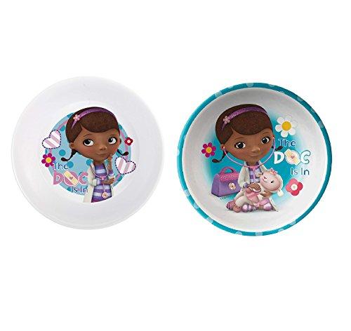 2 Set Zak! Designs Doc McStuffins Melamine Kids Mealtime Bowl 5.5-inch
