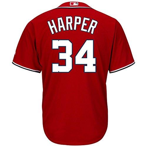 Bryce Harper Washington Nationals MLB Majestic Kids Red Alternate Cool Base Replica Jersey (Kids 7)