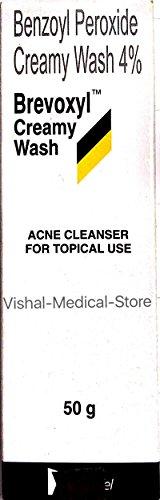 Brevoxyl Benzoyl peroxyde 4 % crémeux Acne Wash (50g, Brevoxyl Benzoyl peroxyde lavage crémeux)