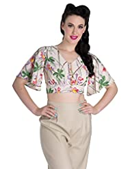Hell Bunny Bamboo Blouse Cropped Top