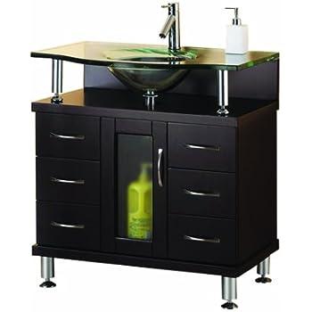 Virtu USA MS-32-G-ES Vincente 32-Inch Single Sink Bathroom ...