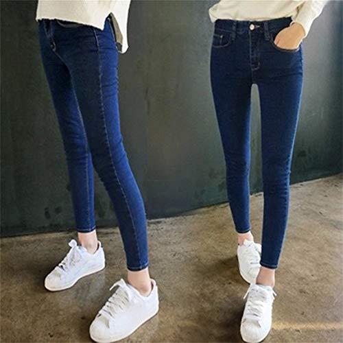 Stretch Denim Pantalon Jeans Taille Mince Slim Imitation Haute Femmes Skinny Mode Jeans pour Les Crayon Leggings Haute lastique qzXB4C