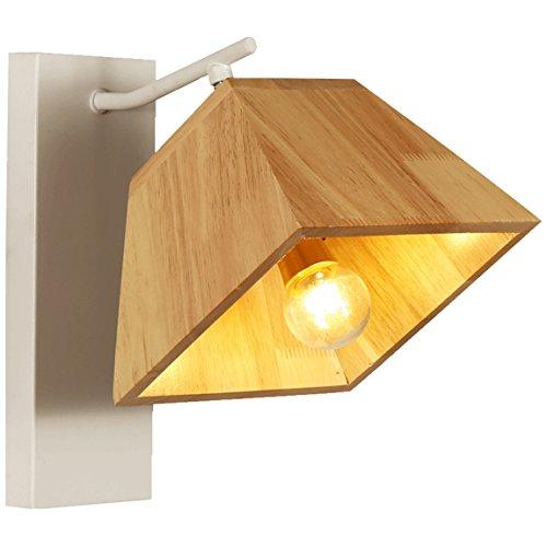 505 HZB Nordic Creative Solid Wood Wall Lamp Corridor Bedroom Bedside Lamp ()