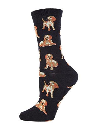 MeMoi Golden retriever socks Black MWN00130 One Size