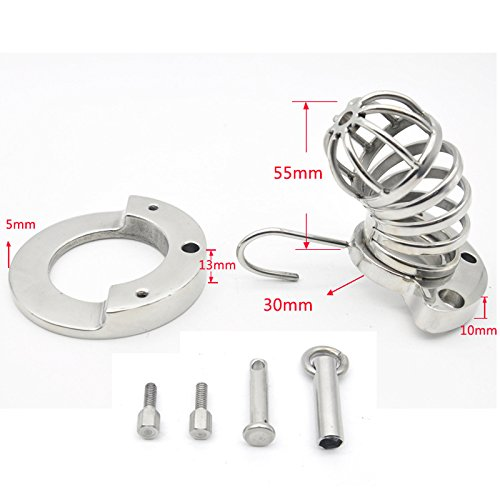 GTAovov men's sex toys cbt cock cage metal cockring stainless steel male chastity device lock bondage penis ring cages sextoys for men by GTAovov