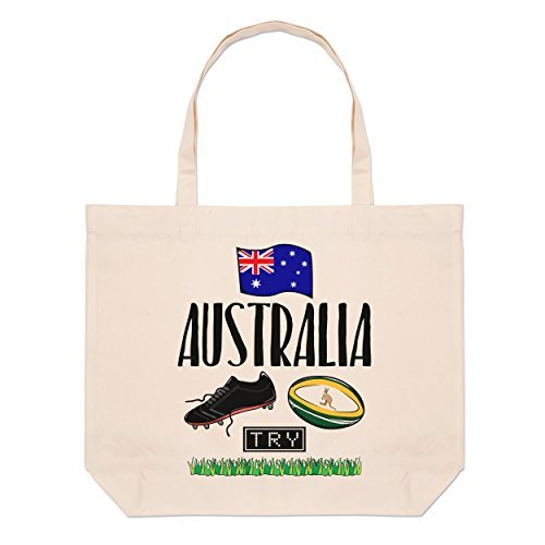 Rugby Australien groß Strand Tragetasche