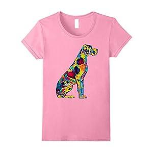 Womens Great Dane T Shirt Big Dog Pet Full Body Chillin True Friend Medium Pink