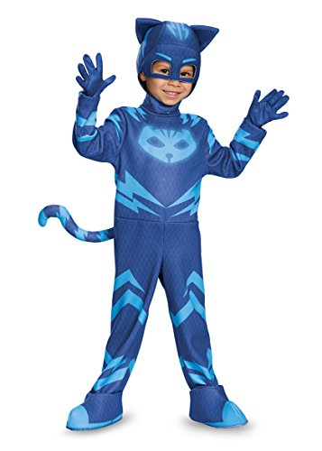 Disguise Catboy Deluxe Toddler PJ Masks Costume, Large/4-6 (Cats Costume)