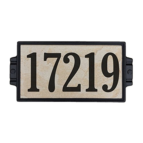 Sandy Stone Address Plaque 5 by Craftsman House Numbers