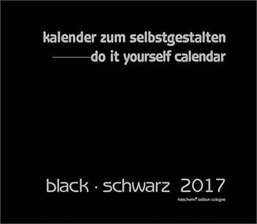Black - Schwarz Blankokalender zum Selbstgestalten 2016- Do it yourself-XL Format 50x42cm