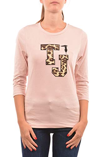 inverno Trussardi Lunga Manica 1t001632 T Rosa shirt Donna 56t00142 Autunno qX1xzx6w