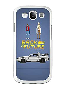 Personalized Hard Shell Back to the Future 1 White Phone Case For Samsung Galaxy S3 I9300 Cover Case