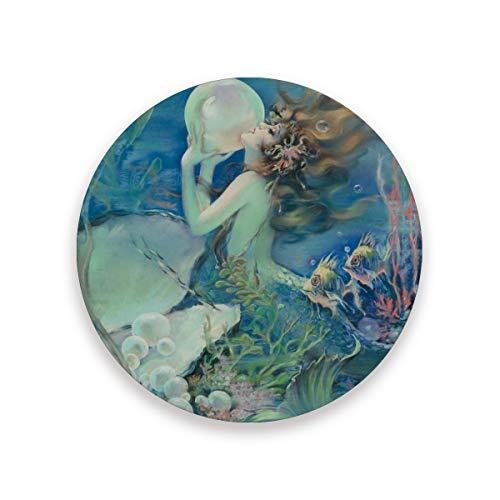Mermaid Holding Pearl Coasters for Drinks 3.9