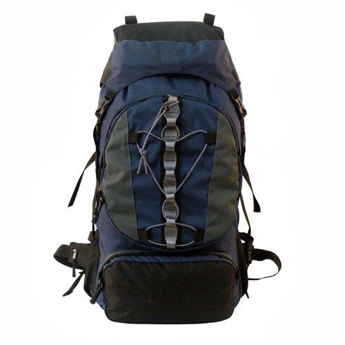 AVS Ul 60 Plus 10 Liter Camping Hiking Backpack Internal Frame Pack Bag Navy, Outdoor Stuffs
