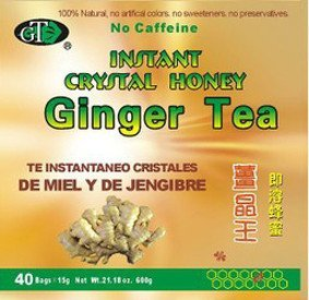 GoTo Tea Instant Crystal Honey Ginger Tea (40 Tea - Ginger Honey Crystal Instant Tea