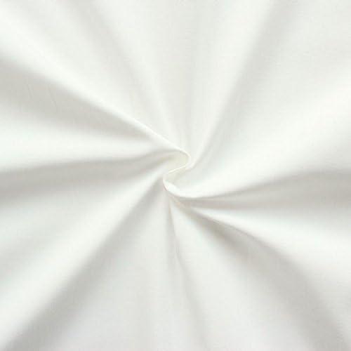 100% algodón popelina tela metro color crema de color blanco ...