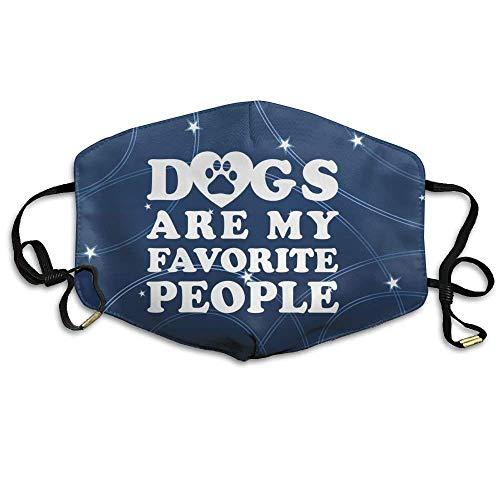 VBTY Dogs are My Favorite People Reusable Anti Dust Comfort Polyester Breathable Mask,Warm Windproof Mask ()
