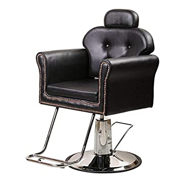 Fine Beauty Style Hydraulic Reclining Salon Equipment Barber Chair With Removable Headrest Black Lamtechconsult Wood Chair Design Ideas Lamtechconsultcom