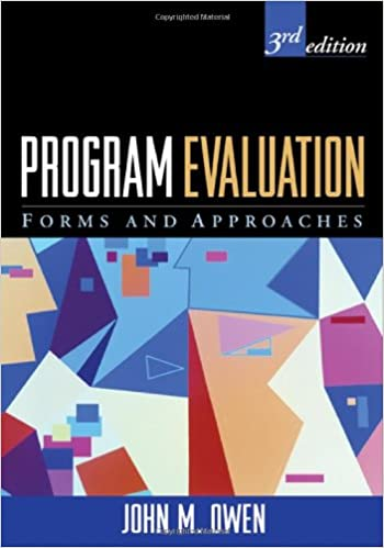 Program Evaluation Third Edition Forms And Approaches